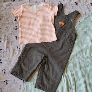 Carters 12 month overalls